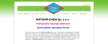 MATMAR CHEM SP Z O O